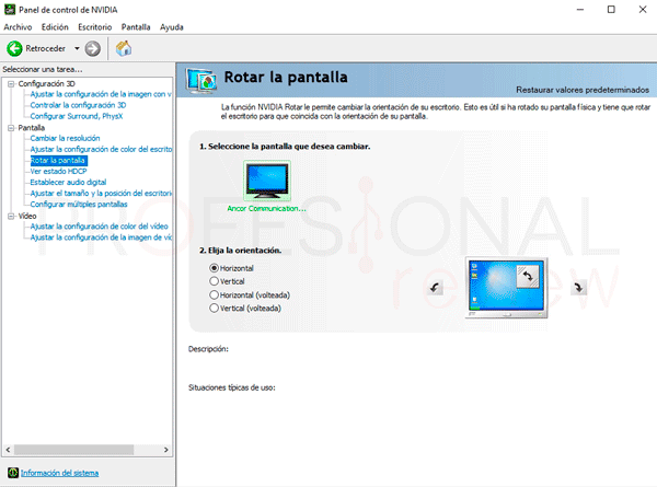girar pantalla Windows 10 paso02