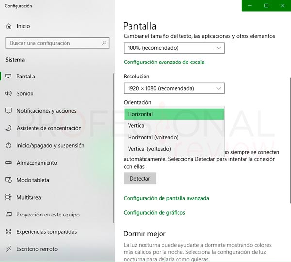 girar pantalla Windows 10 paso05