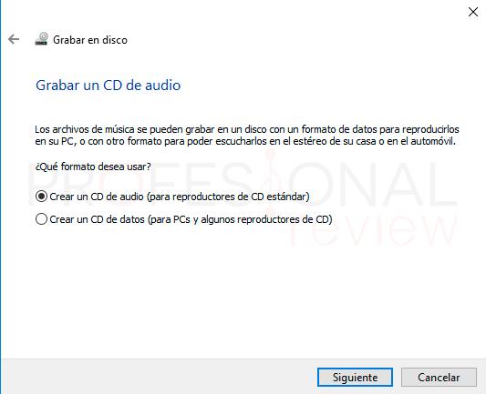 Grabar DVD Windows 10 paso12