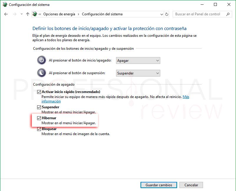 Hibernar Windows 10 p04