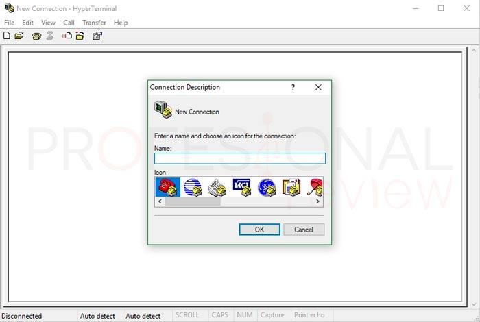 Hyperterminal en Windows 10 tuto02
