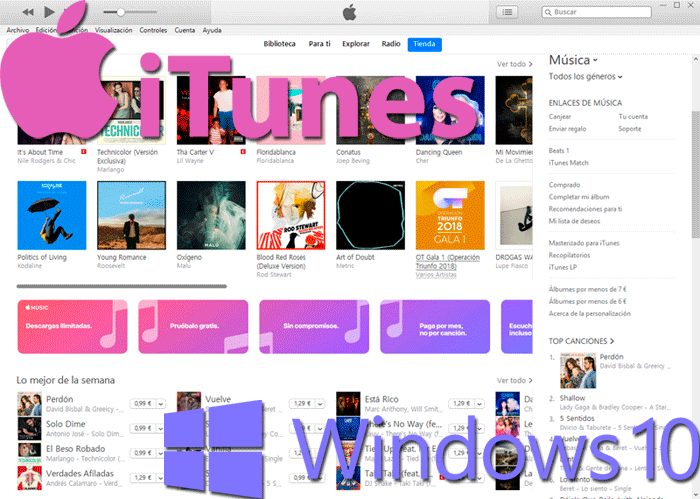 Instalar iTunes para Windows 10 paso01