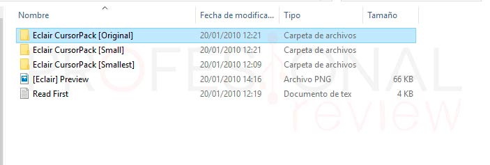 Instalar cursores en Windows 10 p09