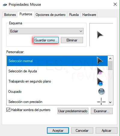 Instalar cursores en Windows 10 p12