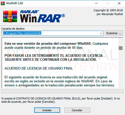 Instalar WinRAR en Windows 10 paso02