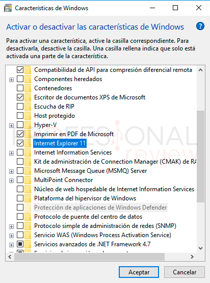 Internet Explorer para Windows 10 paso05