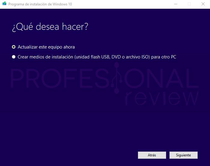 Media Creation Tool Windows 10 paso02