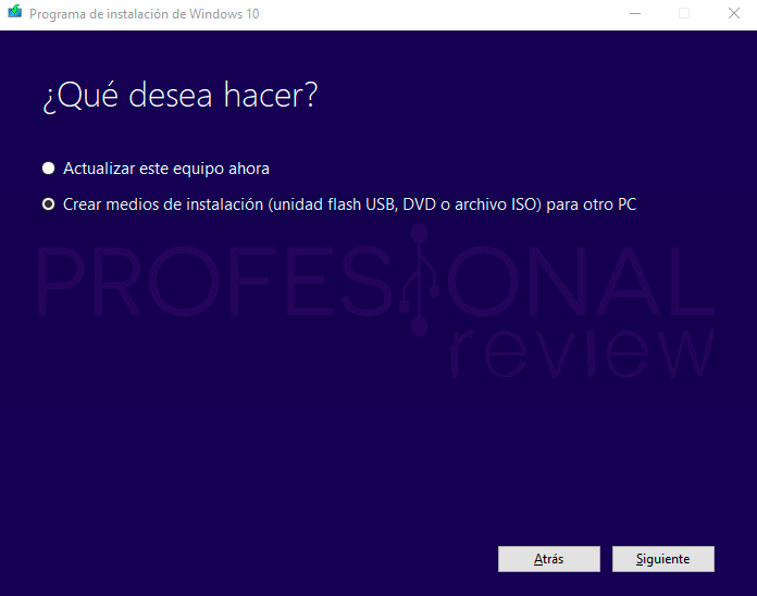 Media Creation Tool Windows 10 paso07