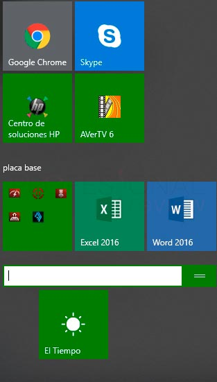Personalizar menú inicio en Windows 10 paso 08