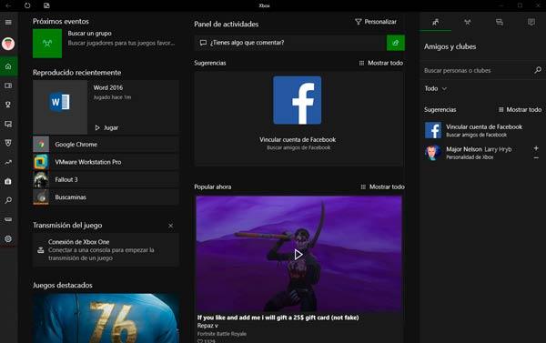 Modo juego Windows 10 tuto01