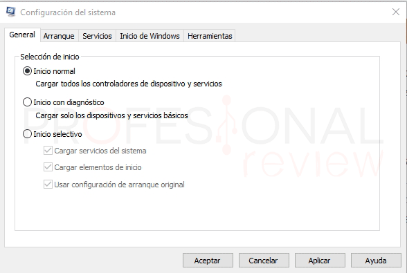 MSConfig Windows 10 p04