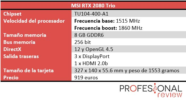 MSI GeForce RTX 2080 GAMING X TRIO