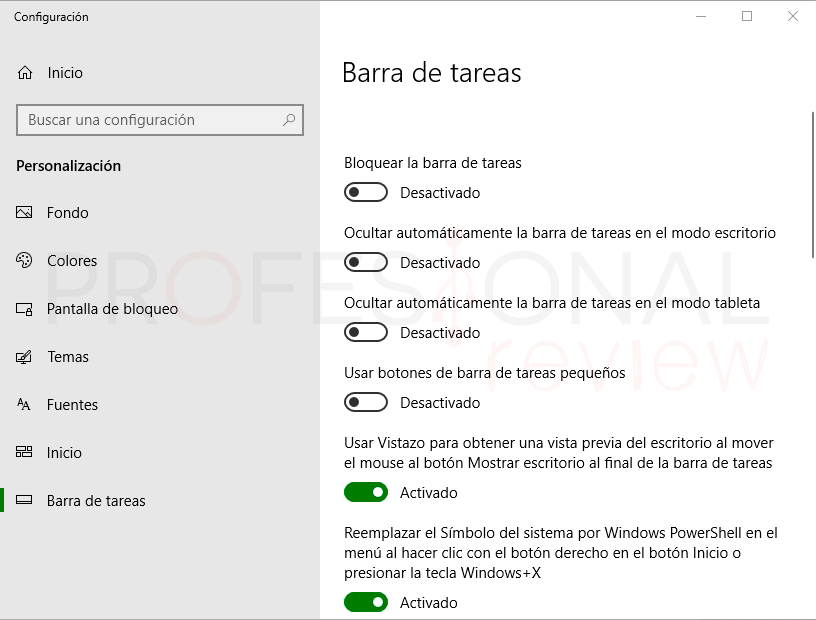 Ocultar barra de tareas en Windows 10 tuto03