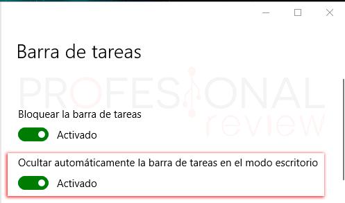 Ocultar barra de tareas en Windows 10 tuto04