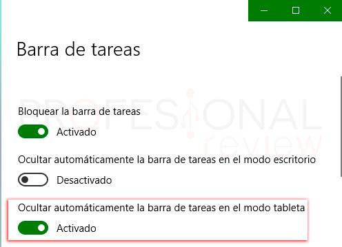 Ocultar barra de tareas en Windows 10 tuto05