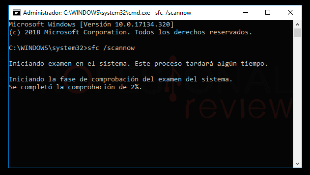 Pantalla negra Windows 10 paso05