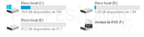 Particionar disco duro Windows 10 p2