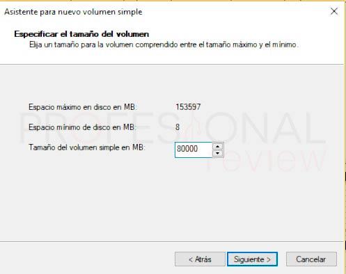Particionar disco duro Windows 10 p9