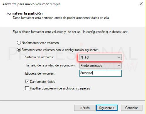 Particionar disco duro Windows 10 p11
