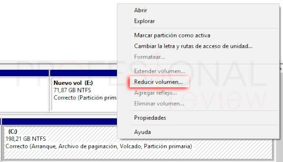 Particionar disco duro Windows 10 p14