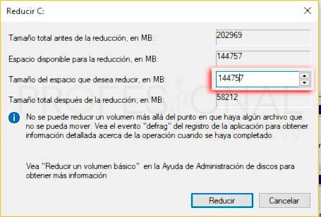 Particionar disco duro Windows 10 p15