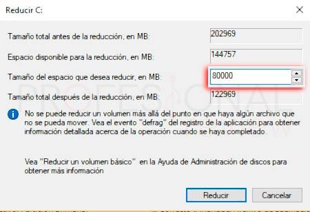 Particionar disco duro Windows 10 p16