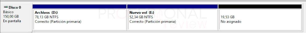 Particionar disco duro Windows 10 p18