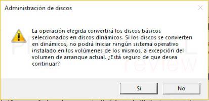 Particionar disco duro Windows 10 p21