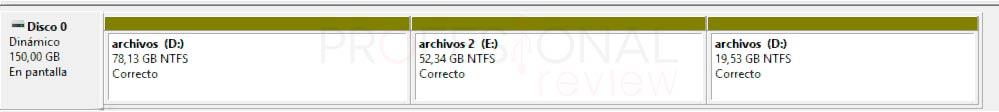 Particionar disco duro Windows 10 p22