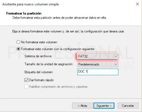 Particionar disco duro Windows 10 p24