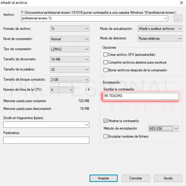 Poner contraseña a una carpeta Windows 10 paso07