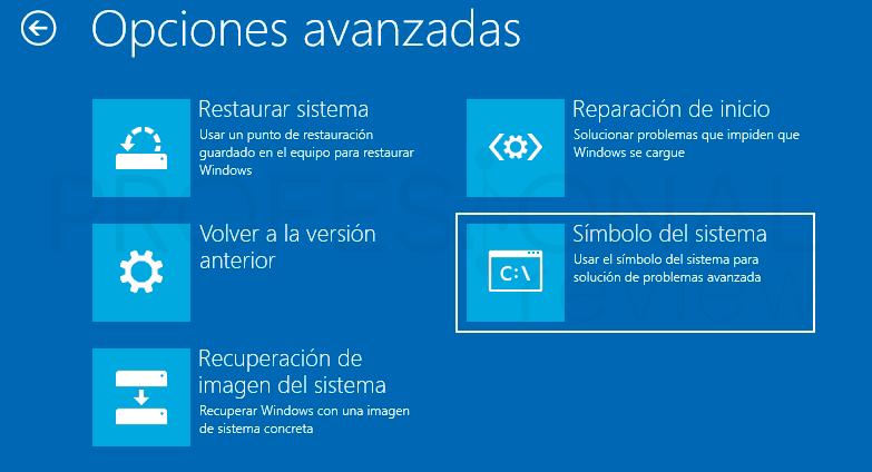 Reparar inicio en Windows 10 p06