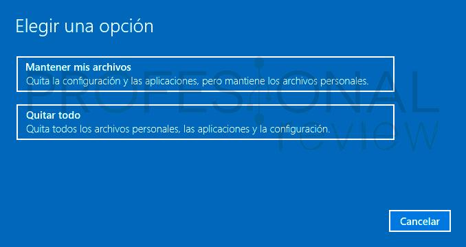 Restaurar Windows 10 paso09