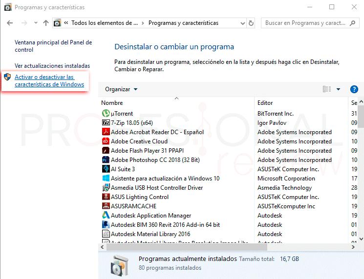 Telnet Windows 10 paso05