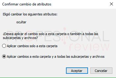 Ver archivos ocultos Windows 10 paso08