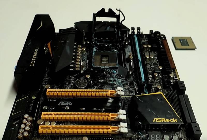 Core i9 9900K a 5,5 GHz en una ASRock Z170M OC Formula