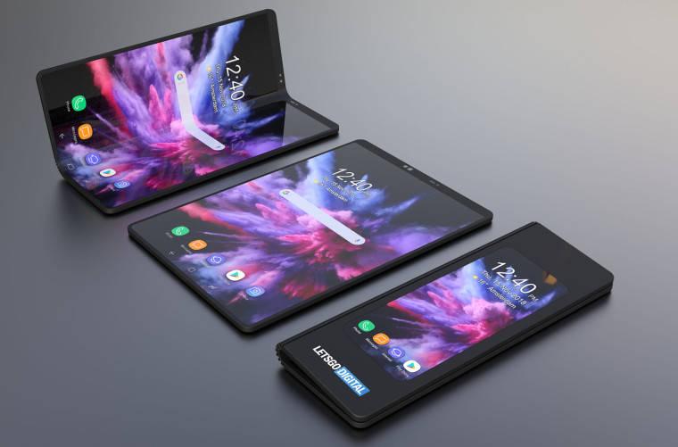 Letsgodigital crea un render del smartphone plegable de Samsung