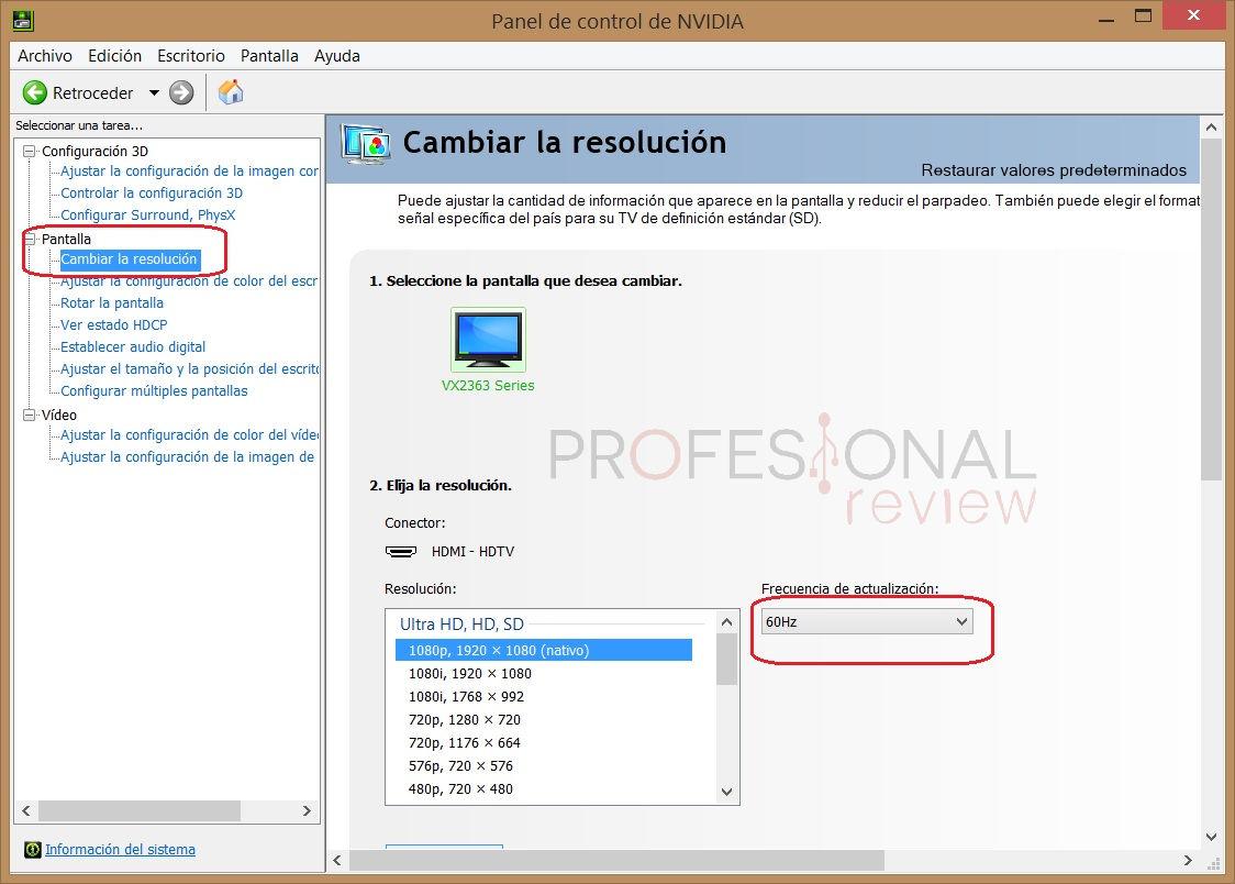 Cómo configurar la frecuencia de actualización del monitor