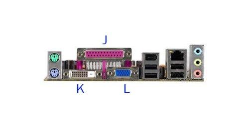 Conectores externos de una placa base