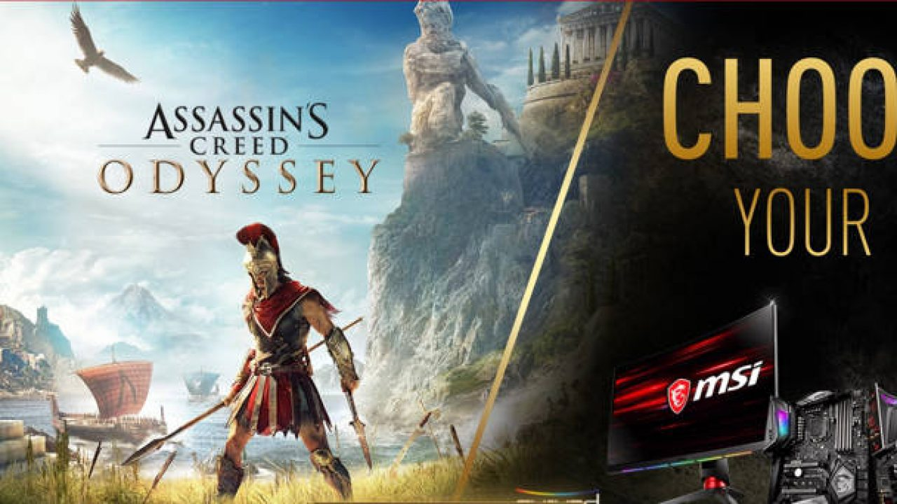 MSI regala Assassin's Creed Odyssey con algunos monitores y