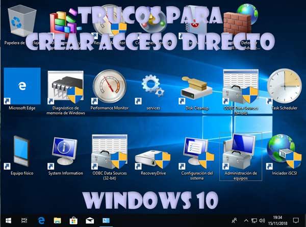 Crear acceso directo