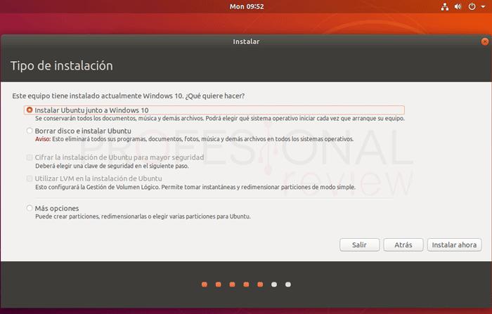 Dual boot de Windows 10 y Ubuntu tuto10