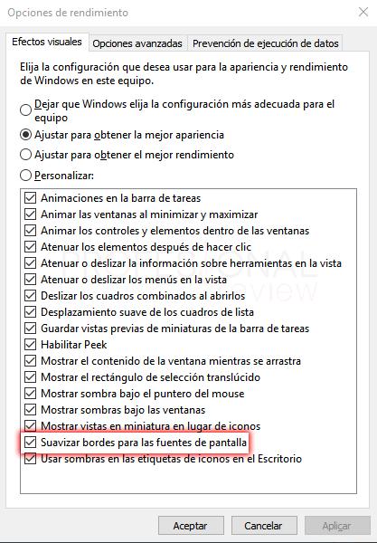 Letras borrosas en Windows 10 tuto11
