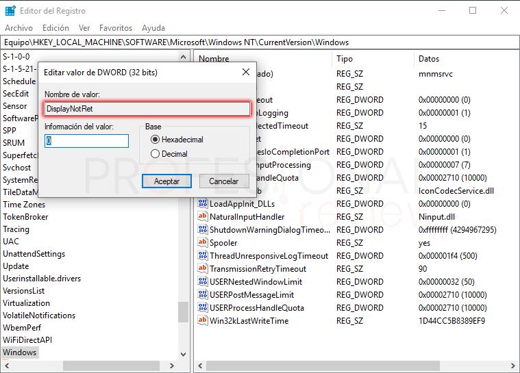 Quitar marca de agua Windows 10 tuto04