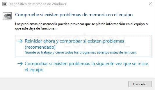 Memory management Windows 10 paso 01