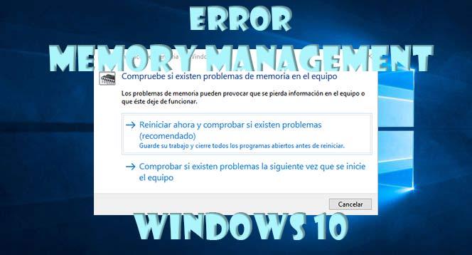 Memory management Windows 10