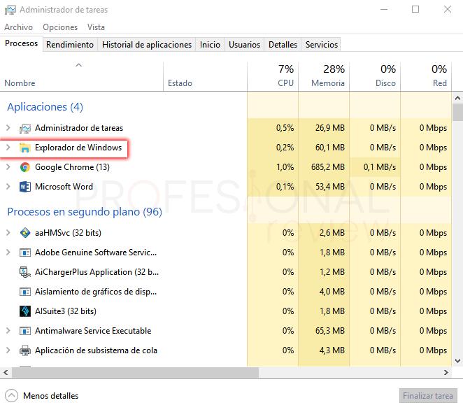 Opciones de carpeta Windows 10 paso 02