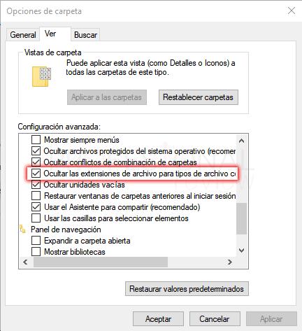 Opciones de carpeta Windows 10 paso 13