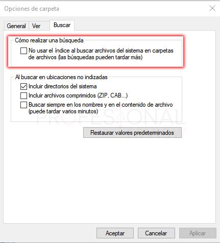 Opciones de carpeta Windows 10 paso 14