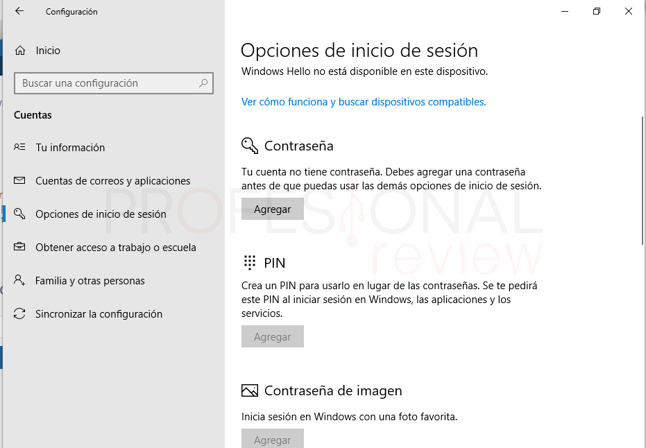 Quitar PIN Windows 10 tuto02